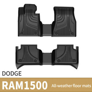 Floor Mats Floor Liners For 2010 2018 Dodge Ram 1500 2500 3500 Crew Cab Black