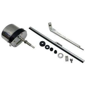 Universal Stainless 12 Volt Electric Windshield Wiper Motor Kit