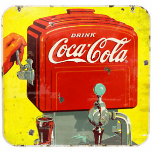 Coca-Cola Old Time Soda Fountain Wall Decal 24 x 23 Distressed