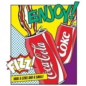 Coca-Cola Enjoy Cans Pop Art Wall Decal Vintage Style Kitchen