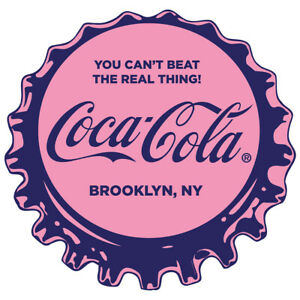 Coca-Cola Bottle Cap Decal 24 x 23 Brooklyn NY the Real Thing