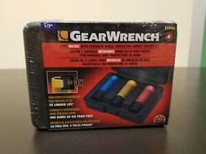 Gearwrench 84946 3 Piece Metric High Strength Wheel Protector Impact Socket Set