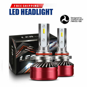 Led Headlight Kit 9005 Hb3 6000k White High Beam Bulb For Acura Rsx 2005 06 Dta