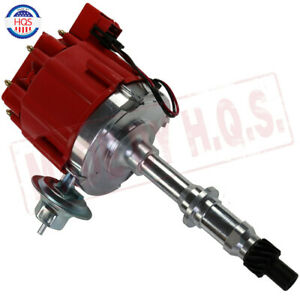 Red Cap Hei Distributor Fit For Pontiac 301 326 389 400 421 428 455 V8 Engines