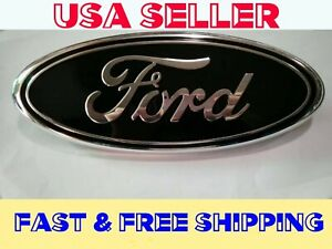 Ford Black Emblem 9 Inch 2004 2014 Front Rear Grille Tail Gate F150 F250 F350
