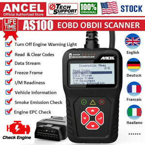 Obd2 Obdii Check Engine Diagnostic Car Automotive Fault Code Reader Scanner Tool