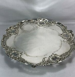 Very Rare Whiting Sterling Silver 12 Five Footed Salver Tray French Style 812g