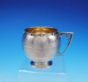 Gorham Coin Silver Cup Barrel Shape Gw Interior Bc Design Beads 70 3549