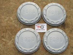 1961 66 Ford 1 2 Ton Ton Pickup Truck Painted Dog Dish Hubcaps Set Of 4
