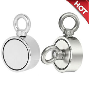 Fishing Magnet Upto 800 Lbs Pull Force Heavy Duty Strong Neodymium Magnet