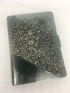 Victorian Silver Gilt Chatelaine Notebook Card Holder Celluloid Large Ornate