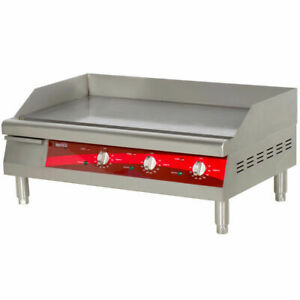 Stainless Steel Griddle Electric Restaurant Countertop Flat Top 1 2 Thick 30