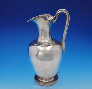 Whartenby Co Coin Silver Wine Ewer Philadelphia Beaded Dated 1855 3591