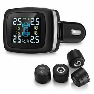 Wireless Tire Pressure Monitoring System tpms With 4 External Cap Sensors