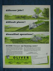 1949 Oliver Cletrac Ad Shows Three Diff Jobs The Crawler Can Do