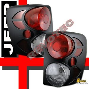 99 03 Jeep Grand Cherokee Black Tail Lights Lamps 1 Pair 00 01 02