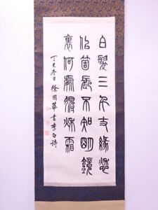 4302985 Japanese Wall Hanging Scroll Hand Painted Calligraphy