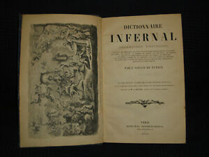 1863 Dictionnaire Infernal Magic Occult 500 Illustrations Very Rare