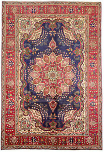 Hand Knotted Carpet 6 7 X 9 9 Traditional Vintage Wool Rug
