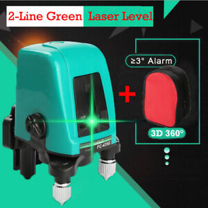 Ak435 360degree Self leveling Cross Laser Level Green red 2 Line 1point W Bag