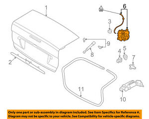 Ford Oem 2004 Focus Trunk lock Or Actuator Latch Release 6s4z5443150e