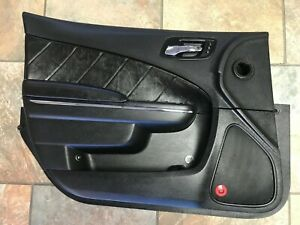 12 13 14 Dodge Charger Front Left Door Interior Panel Oem Black Leather