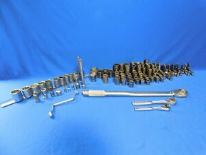 128 Lot Of Craftsman Long short Both Metric sae With 3 Ratchet Free Shipping