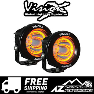 Vision X 3 7 Dual Optimus Universal Led Driving Amber Light 20w 2104lm 9917610