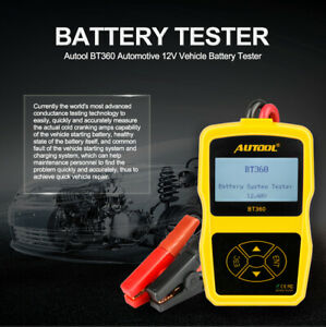 Autool Bt360 Dc 12v Vehicle Battery System Tester Car Charging Test Analyzer Us