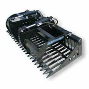 Blue Diamond Skid Steer Rock Bucket Grapple 72 Width