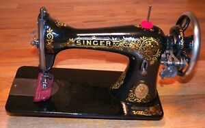 Restored Antique 1911 Singer 15 30 Treadle Sewing Machine Head Sews Very Well