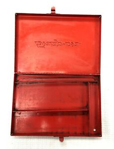 Snap on Tools Vintage Empty Red Metal Box Kra 275a