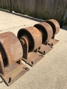 Antique Vintage Cast Iron Casters