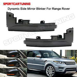 Dynamic Led Side Mirror Blink Turn Signal Lamps Fit Land Rover Range Rover 2012