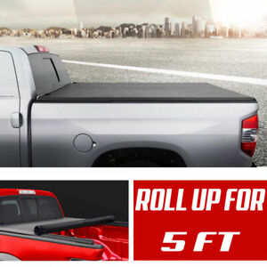 Bed Cover 5ft Tonneau Cover Roll Up Fit 2016 2017 2018 2019 Toyota Tacoma Sr5