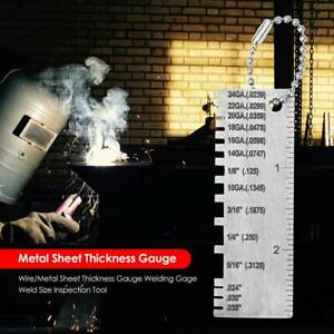 Wire metal Sheet Thickness Gauge Welding working Gage Weld Size Inspection Tool