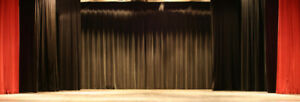 Black Heavy Duty Stage Chain Weighted Drape Curtain Partition Panel 13 X 12 Fr