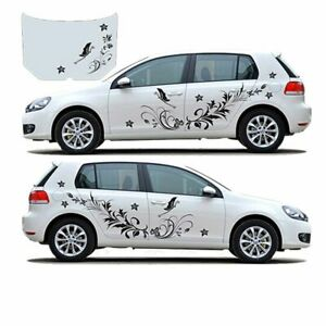 Car Body Stickers 1 Pair Flower Vine Dragonfly Waterproof Modified Vinyl Decals