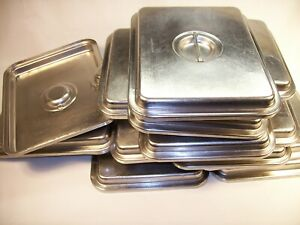8 Regethermic 1 4 Stainless Steel Hotel Restaurant Steam Table Pan Pot Cover Lid
