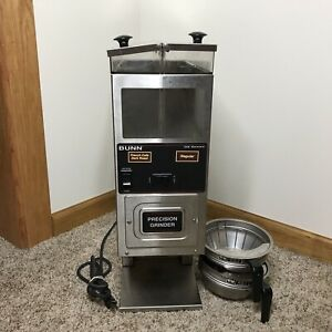 Bunn G9 2 Hds Dual Hopper Control Precision Coffee Grinder With 2 Funnels