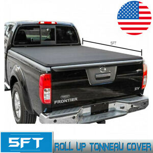 For 2015 2019 Nissan Frontier 5ft Short Cab Bed Soft Roll Up Tonneau Cover