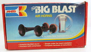 Vintage Anes The Big Blast Air Horns Rare Auto Rv Truck Semi Pickup Car 12 Volt