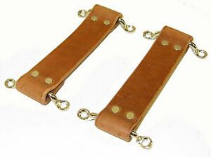 1920 S 1930 S Chevrolet Chevy Ford Hot Rod Brown Leather Door Strap Set Usa