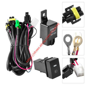 Relay Wiring Wire Harness Switch H11 For Toyota Fog Lights Hid Led Drl Add On