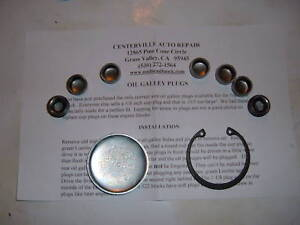 Buick Nailhead Oil Galley Kit 364 401 425 1957 1966 They Are A Special Size