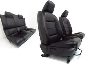 Ford Mustang Convertible Seats Black Leather Front Rear 2005 2006 2007 2008 2009