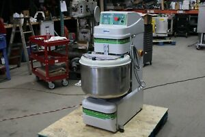 2013 Univex Sgl50 02 70 Quart 110 Pound Spiral Mixer Stainless Commercial Bakery