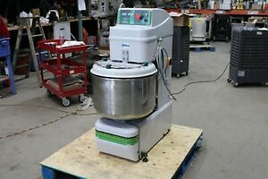 2015 Univex Sgl50 02 70 Quart 110 Pound Spiral Mixer Stainless Commercial Bakery