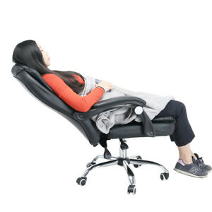 Modern Office Leather Desk Gaming Computer Chair With Massage Adjust Seat Height