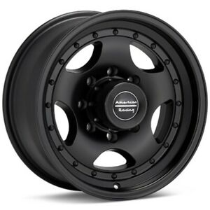 4 16 Inch Ar23 16x7 Chevy 8 Lug K2500 2500hd Truck Black Rims 8x6 5 Upto 2010